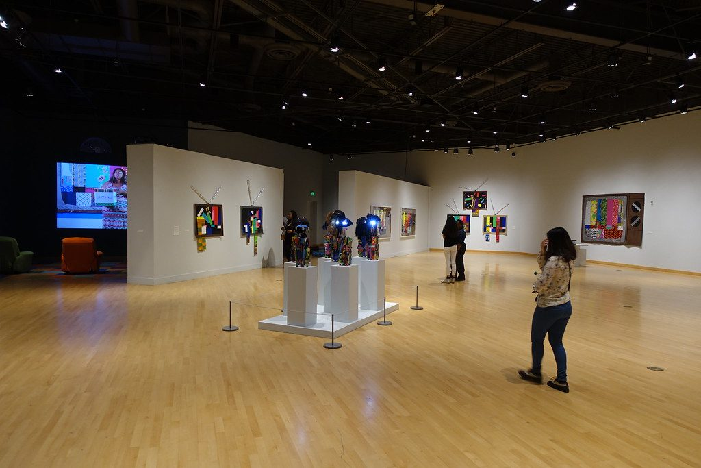 Gallery in the California african-American Museum