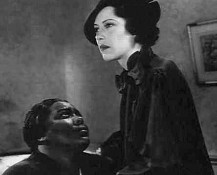 "Louise Beavers (l) & Fredi Washington (r), starring as mother, ""Delilah Johnson"", and daughter, ""Peola Johnson"", in the 1934 film, ""Imitation of Life"""