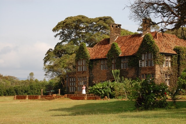 A view of Giraffe Manor