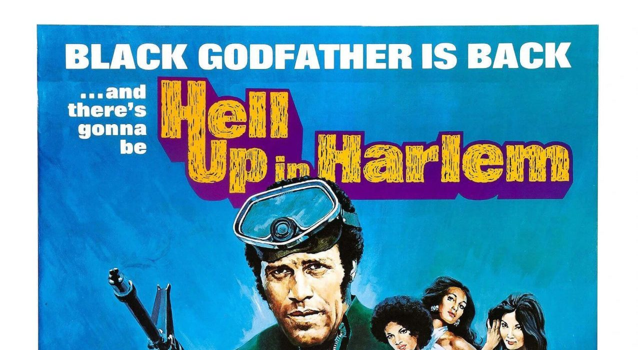 "Image of promotional poster for the film, ""Hell Up in Harlem""."