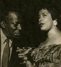 Photograph of Miles Davis and Shirley Horn taken during the early 1960s (No copyright infringement intended).