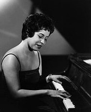 Shirley Horn  photographed at the piano, circa 1960s.