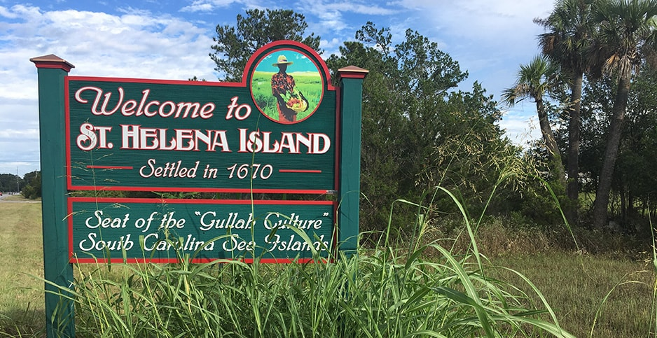 Image of Welcome to St. Helena Island sign sourced from E&E News (No copyright infringement intended).