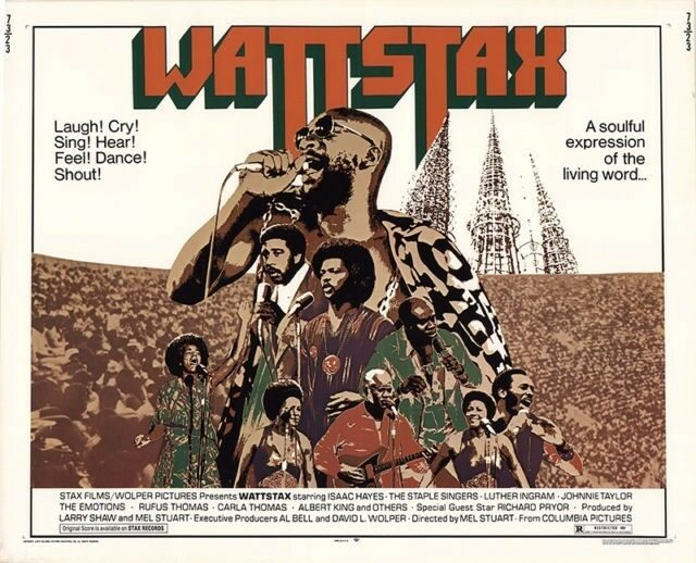 Image of the poster for the film, Wattstax